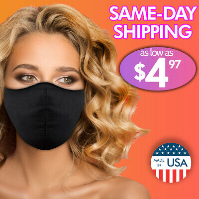 Face Mask Reusable Washable Covering Masks Clothing Men Women Protective USA 🔥