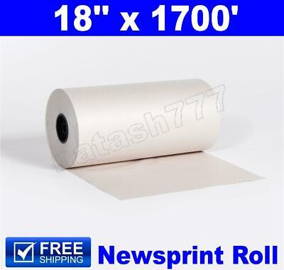 "18"" x 1700` 30# Newsprint Shipping Wrapping Stuffing Packaging Paper Roll"