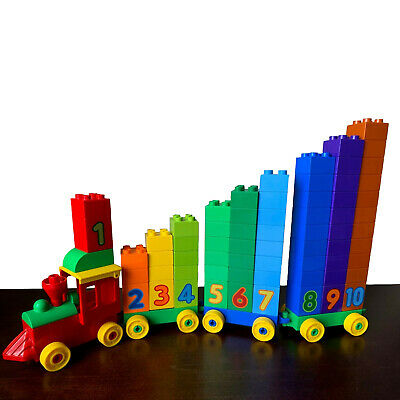 Lego Duplo Number Train Customized Montessori Counting Sorting Homeschool Math
