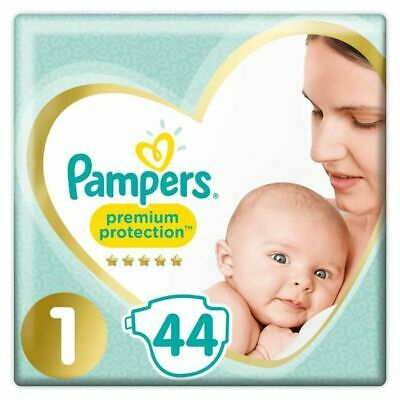 Pampers Premium - Protection New baby - Taille 1 - 2 à 5 kg - 44 couches