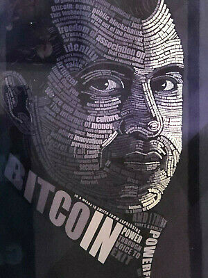 Andreas Antonopoulos Bitcoin Metal Panel 2/10 signed from Lynx Art Collection