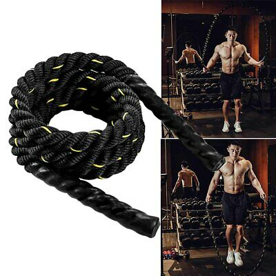 Fitness Weighted Jump Rope 25mm Heavy Battle Skipping Ropes Power Training