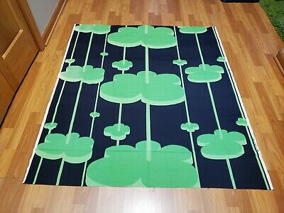 Awesome RARE Vintage Mid Century retro 70s Tampella huge green clouds fabric!!