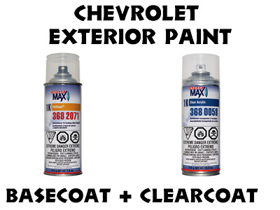 Chevrolet Do It Yourself Car Paint B/C Spraycan Kit, Many Colors To Choose