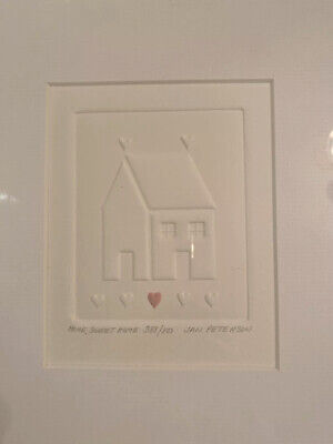 Home, Sweet Home Jan Peterson Embossed Print Signed Numbered 388/800.