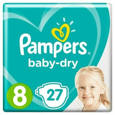 PAMPERS Baby Dry Taille 8  17+ kg 27 couches