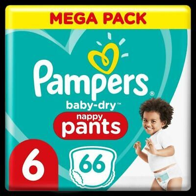Pampers Baby-Dry Couches-Culottes Taille 6, 66 Culottes