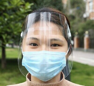 Full Face Clear Shield Mask with Flip up Visor Work Safe Guarding