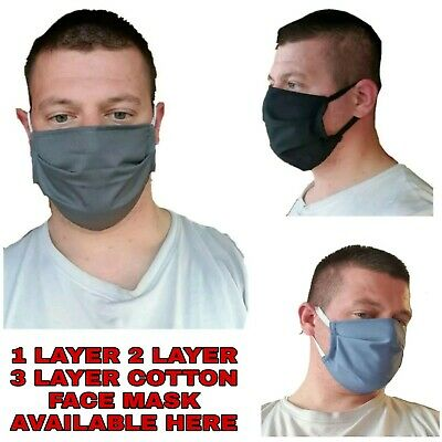 Unisex Cotton Face Mask Mouth Cover Washable Reusable Adult Cloth Dust Mask Lot