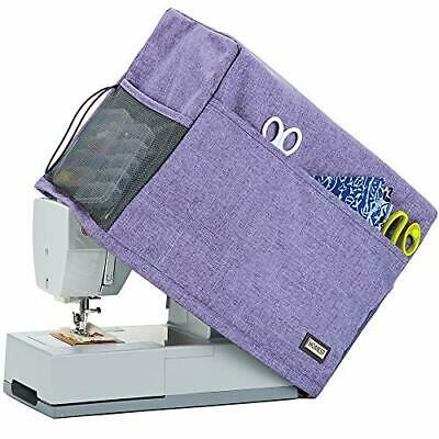 Sewing Machine Dust Cover +Storage Pockets Most Standard Singer Brother Machine