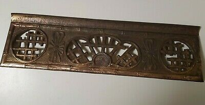 Antique Heavy Cast Iron Fancy Heat Register Grill Grate for Wall/Floor Vent