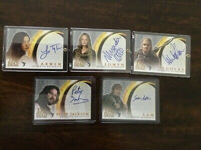 2003 Lord of the Rings LOTR Two Towers AUTO autograph Astin Sam