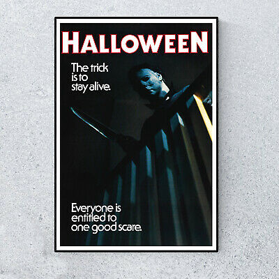 Replica Halloween Classic Horror Film Movie Glossy Print Wall A4 Poster