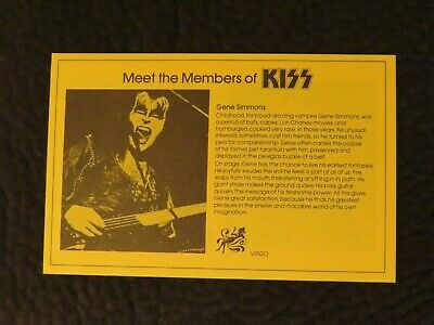 Kiss Army Kit Biographies Booklet