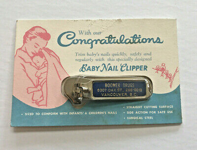 Vintage Baby Nail Clippers 50s 60s In Opened Packaging New Baby Boomer Small