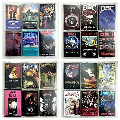 BUILD UR OWN Cassette Lot - Classic Death, Thrash & Power Metal - Rare Titles!!!