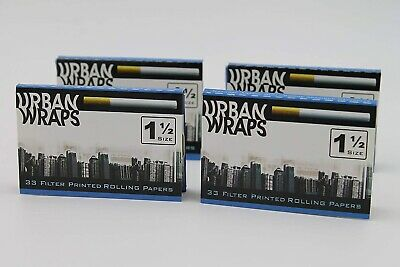 (3 PACKS) Urban Wraps Cigarette Appearance Soy Print 1 1/2 Rolling Paper