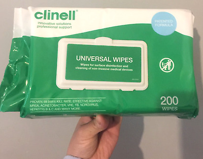 Clinell universal sheet 200 ✅NHS_approved✅kills 99.999%_virus✅ Fast Dispatched📦