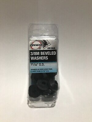 Danco 88584 3/8M Rubber Beveled Washer, 21/32-Inch, 1-Pack of 10 Washers