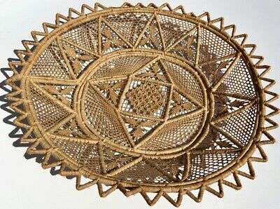Antique Victorian  Intricate Woven Basket from Italy in the Early 1900's