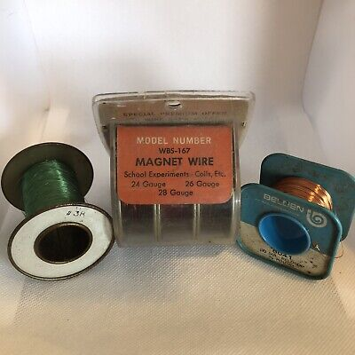 Magnet Wire Assortment Vintage 24 26 28 30 38 Guage