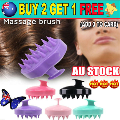 Head Scrubber Shampoo Brush and Hair Scalp Massager with Soft Silicone Bristle G
