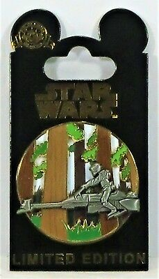 Disney Star Wars Pin of the Month Endor Scout Troop Speeder 3-D Pin LE 6000 NEW