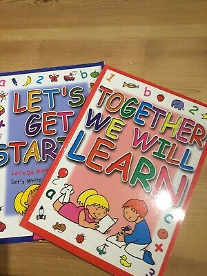 2 X Large  Children's Learning Activity Books Numeracy & Literacy Age 4+ Rec