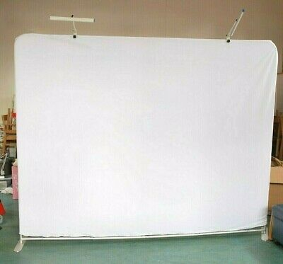 Very Large Tension Banner Display Stand Sign Exhibition Show Lights Double Sided