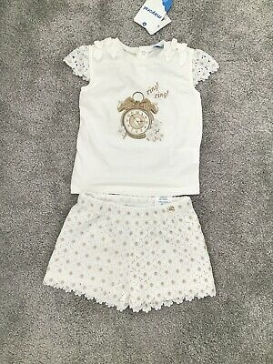 Spanish Designer Mayoral Girls Set Age 3 New With Tags