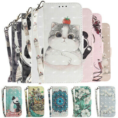 For Xiaomi Redmi Note 9S 8T 8 7S Flip Painted Leather Case Magnetic Wallet Cover