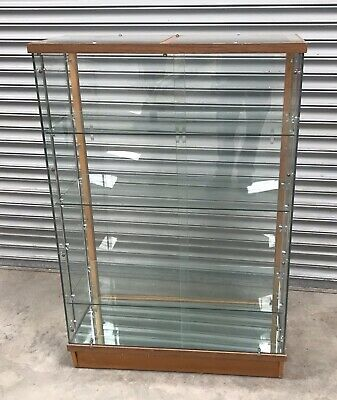 Vintage 1940's Shop Glass Cabinet Oak