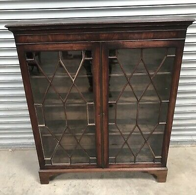 Antique Georgian Glazed Mahogany Bookcase