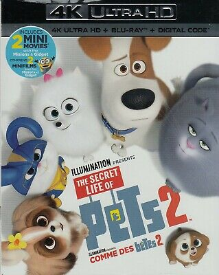 The Secret Life Of Pets 2 (4K Ultra Hd/Bluray)(2 Disc Set)(Used)