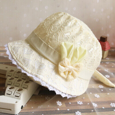 Newborn Baby Girls Kids Summer Princess Infant Flower Sun Cap Cotton Bucket Hats
