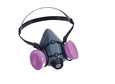 Series Half Face Respirator , LARGE W/ 2 Filters,