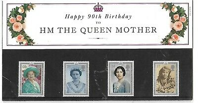 1990 HM The Queen Mother 90th Birthday - Presentation Pack No. 210.