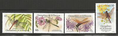 St. Vincent Grenadines Scott #564-9 MNH stamp set Dragonflies Insects