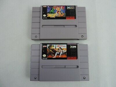 Super Nintendo Lot of 2 Games Dino City & Dragons Lair Authentic Tested Working