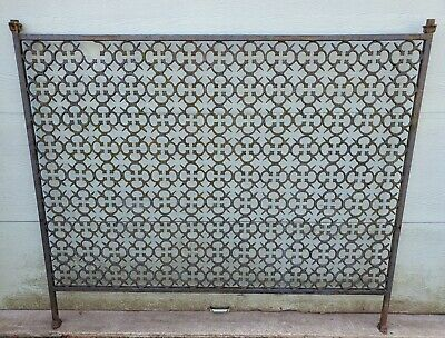 6' Cast Iron Privacy Screen Fence ROOM DIVIDER garden trellis DELIVERY AVAILABLE