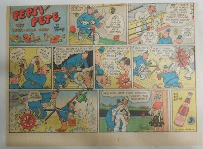 from 1940/'s 7.5 x 15 inches by Rube Goldberg Pepsi and Pete The Pepsi-Cola Cops