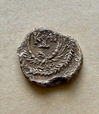 Byzantine lead seal/bleisiegel of Hierotheos stratelates with eagle (7th cent.)