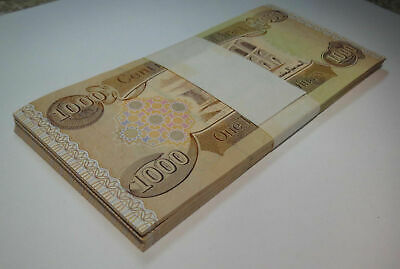25,000 New Iraqi Dinar 25 x 1000  1,000  IQD Note, 25,000 Uncirculated Currency