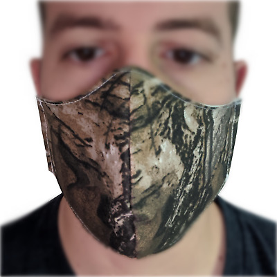 Camouflage Triple Layer Face Mask - Reusable (Non-Medical) Large Medium Hunting
