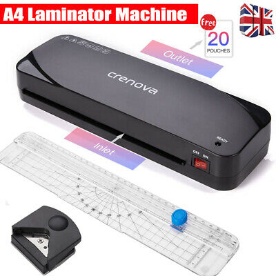 A4 Hot Laminator Free Starter Kit /Pouches/Paper Trimmer/Corner Rounder Portable