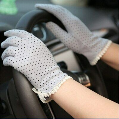 Cotton Ultraviolet Non-slip Gloves Ladies 1Pair Slip-resistant Sunscreen Thin