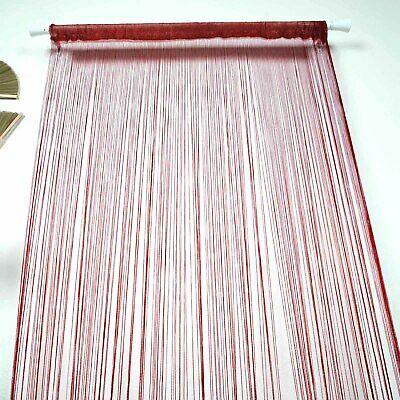 Burgundy 3x8 ft String Fringe CURTAIN Stage Party Wedding Home Window Door