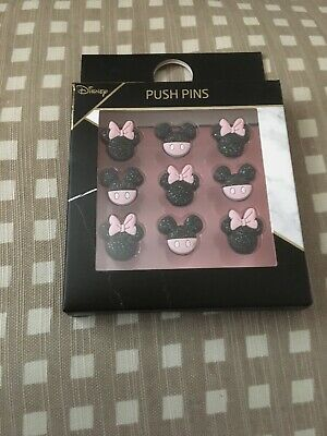 Disney Primark New Minnie and Mickey Mouse Set Of Nine Push Pins