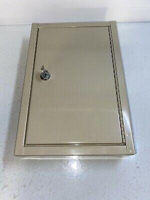 Metal Key Cabinet Storage Box Holds 30 Keys Lockable