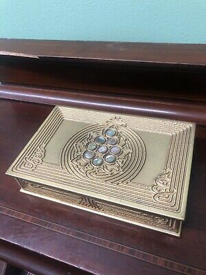 Estate Find Tiffany Studios Bronze And Abalone Trinket Box RARE